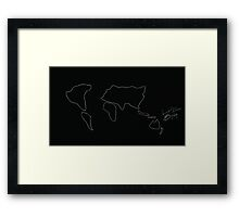wire map Framed Print