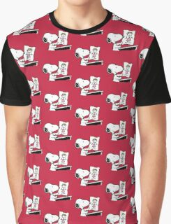 snoopy drawing love Graphic T-Shirt