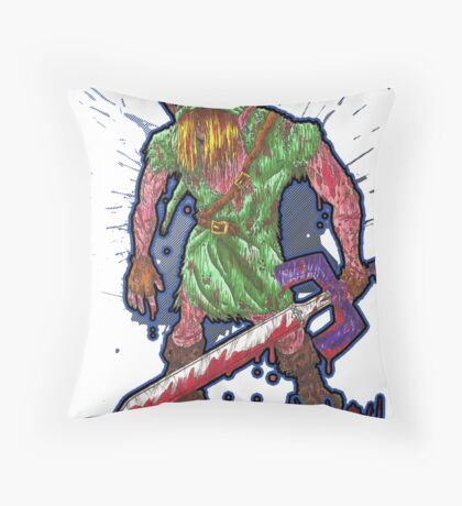 Post-Battle Link Throw Pillow