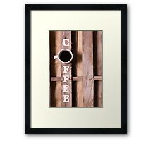 Simply Coffee Framed Print