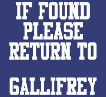 If Found, Please Return to Gallifrey by rexannakay