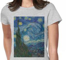 Art Heaux: Van Gogh's Starry Night Womens Fitted T-Shirt