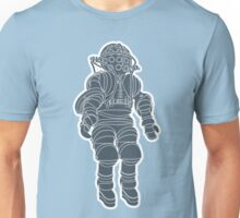 Atmospheric Diving Suite 1882 - Asphalt On White Unisex T-Shirt