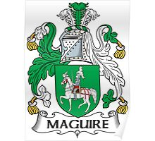 Maguire Coat of Arms (Irish) Poster