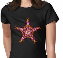 . Energetic Geometry -  Morning Star Dawn Bringer Mandala Womens Fitted T-Shirt