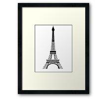 Black Eiffel Tower Framed Print