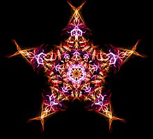 . Energetic Geometry -  Morning Star Dawn Bringer Mandala by Leah McNeir