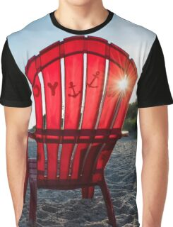 Sunrise In A Red Adirondack Chair | Nissequogue, New York Graphic T-Shirt