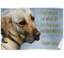 Dogs Card Poster