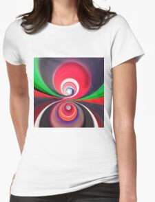 The Circles of your Mind Womens Fitted T-Shirt
