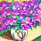 Tibouchina Still Life by marlene veronique holdsworth
