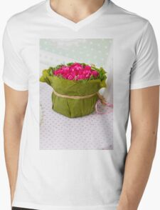 decoration with flowers Mens V-Neck T-Shirt