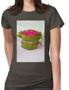 decoration with flowers Womens Fitted T-Shirt