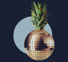 Ananas Party (pineapple) blue version Kids Tee