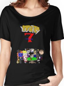 Gamebuster911TV's Lucky Seven Year Anniversary (All Characters) Women's Relaxed Fit T-Shirt