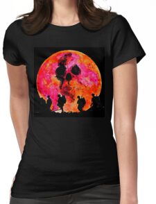 Death under a blood moon Womens Fitted T-Shirt
