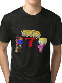 Gamebuster911TV's Lucky Seven Year Anniversary (Charles and Nikki) Tri-blend T-Shirt