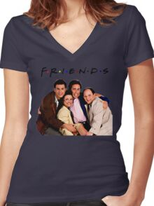 SEINFELD Women's Fitted V-Neck T-Shirt