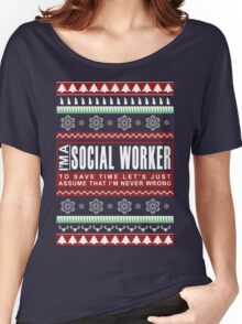 i am social worker christmas Women's Relaxed Fit T-Shirt