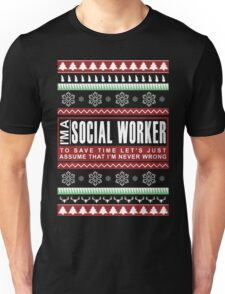 i am social worker christmas Unisex T-Shirt