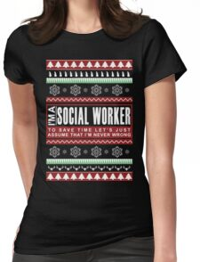 i am social worker christmas Womens Fitted T-Shirt