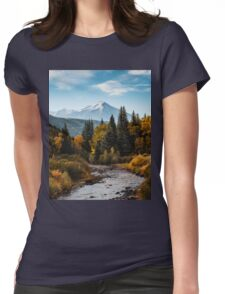 Chair Mountain Womens Fitted T-Shirt