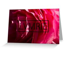 /LVMRIE PINK FLOWER/ Greeting Card