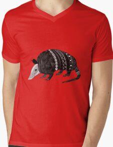 Armadillo Guy Mens V-Neck T-Shirt