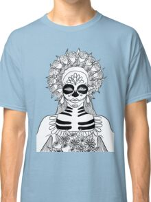 La Calavera Catrina Sugar Skull Ink Drawing Classic T-Shirt