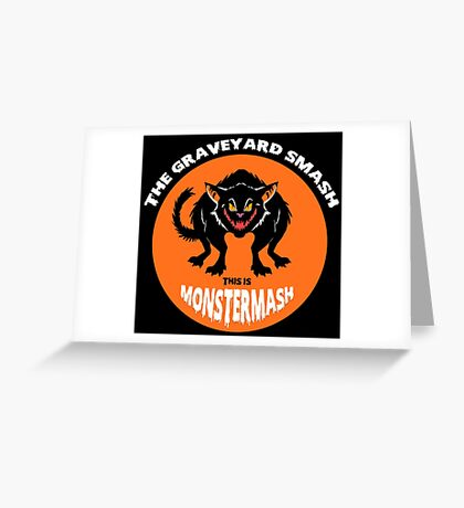 This is Monster Mash - Black Cat Edition Greeting Card