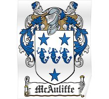 McAuliffe Coat of Arms (Ulster, Ireland) Poster