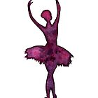 Ballerina Watercolor Silhouette by Laura Bell