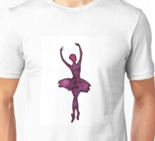 Ballerina Watercolor Silhouette Unisex T-Shirt