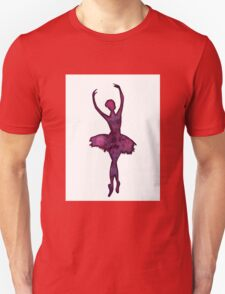 Ballerina Watercolor Silhouette T-Shirt