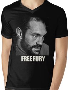 TYSON FURY Mens V-Neck T-Shirt