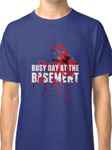 Busy Day At The Basement Bloody Creepy Halloween Party Design Classic T-Shirt