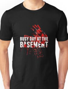 Busy Day At The Basement Bloody Creepy Halloween Party Design Unisex T-Shirt