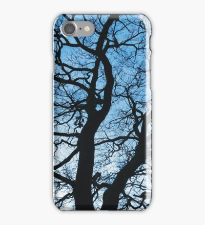 Abstract Winter Tree Silhouette iPhone Case/Skin