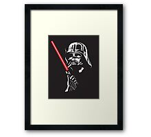 Darth Vader - Smoking Time Framed Print