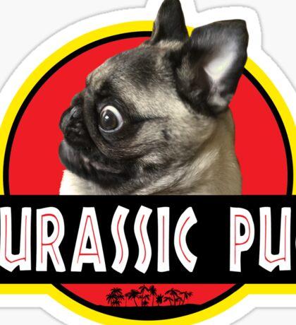 Jurassic Pug Sticker