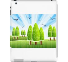 Abstract Alphabet Word Images iPad Case/Skin