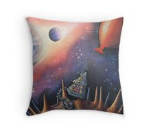 Collecting Cheese Throw Pillow