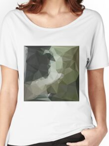 Dark Slate Gray Abstract Low Polygon Background Women's Relaxed Fit T-Shirt