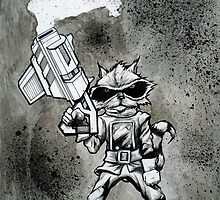 Rocket Raccoon by jarofcomics