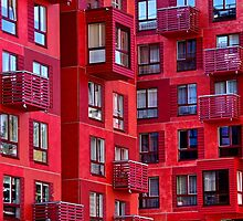 Red houses by Bluesrose