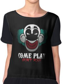 Come Play With Me Halloween Party Design Chiffon Top