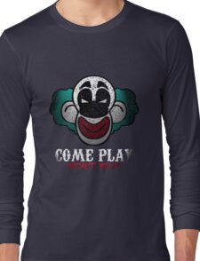 Come Play With Me Halloween Party Design Long Sleeve T-Shirt