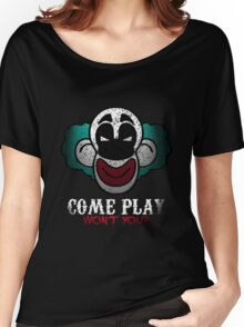 Come Play With Me Halloween Party Design Women's Relaxed Fit T-Shirt