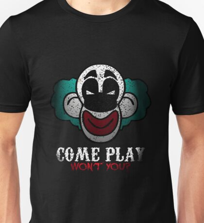 Come Play With Me Halloween Party Design Unisex T-Shirt
