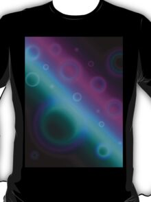 Modern Bubbles Abstract Background T-Shirt